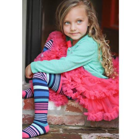 ☆WinterSALE☆ [Huggalugs] Pippi Striped GirlsTights 6-12m/12-18m/2-4T/4-6X