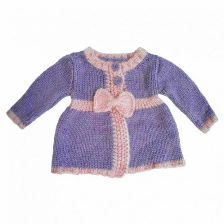 Stocks Out SALE! [Huggalugs] リボンカーデ:Ametyst Bow Sweater 残り12-18m