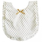 Ruffle gold dot bib