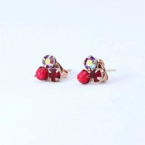 AMARO Red Garnet ピアス