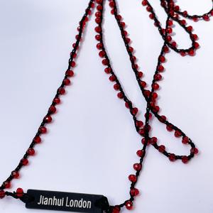 Jianhui LONDON クロッシェ ネックレス Red