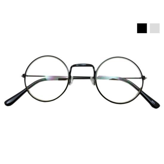 スタンダード丸眼鏡 ブラック/メタル