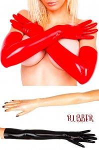 latexa1108-ラバーグローブ-ロング-赤、黒、あめ色