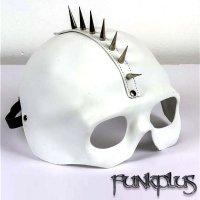 スカル・ハーフマスク モヒカンスパイク付き【サイバーパンク】【funkplus】【アクセサリー】【骸骨・ドクロ】funk-XMK102wht
