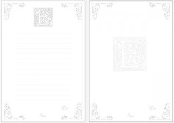 便箋35枚セット-05エレガンス(名入れ 可能)<br />