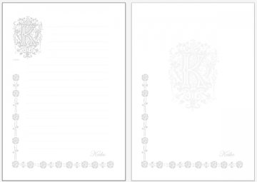 便箋35枚セット-07ローズ(名入れ 可能)<br />