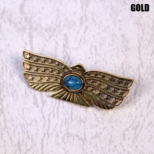 <img class='new_mark_img1' src='//img.shop-pro.jp/img/new/icons5.gif' style='border:none;display:inline;margin:0px;padding:0px;width:auto;' />CALEE[ブローチ] EAGLE TURQUOISE BROOCH《BRASS》