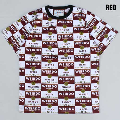 <img class='new_mark_img1' src='https://img.shop-pro.jp/img/new/icons46.gif' style='border:none;display:inline;margin:0px;padding:0px;width:auto;' />WEIRDO_[総柄Tシャツ] WRD CANS-HENRY NECK T-SHIRTS