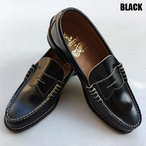 <img class='new_mark_img1' src='//img.shop-pro.jp/img/new/icons5.gif' style='border:none;display:inline;margin:0px;padding:0px;width:auto;' />GLAD HAND_[ローファー] COIN LOAFERS SHOES BLACK
