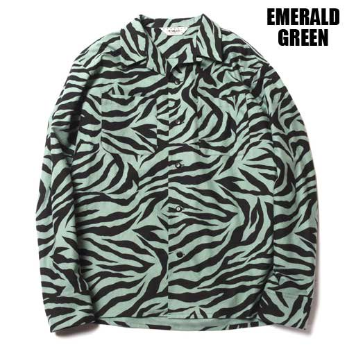 <img class='new_mark_img1' src='https://img.shop-pro.jp/img/new/icons5.gif' style='border:none;display:inline;margin:0px;padding:0px;width:auto;' />CALEE[SHIRTS] ZEBRA PRINT L/S SHIRT