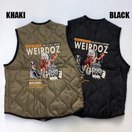 <img class='new_mark_img1' src='https://img.shop-pro.jp/img/new/icons5.gif' style='border:none;display:inline;margin:0px;padding:0px;width:auto;' />WEIRDO[ベスト] WEIRDOZ QUILTING VEST