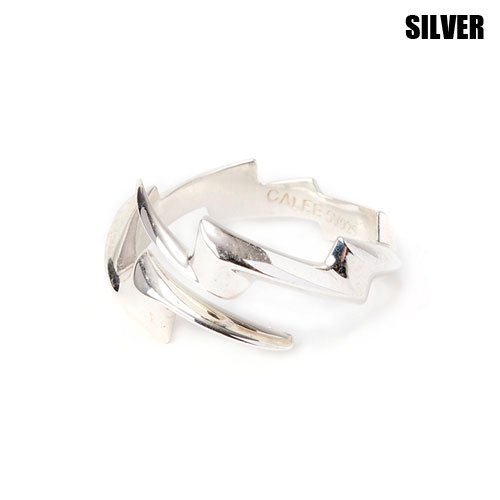 <img class='new_mark_img1' src='https://img.shop-pro.jp/img/new/icons5.gif' style='border:none;display:inline;margin:0px;padding:0px;width:auto;' />CALEE_[リング] THUNDERBOLT SILVER RING