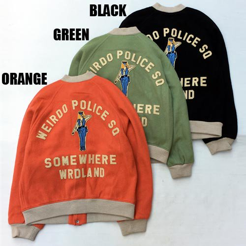 <img class='new_mark_img1' src='https://img.shop-pro.jp/img/new/icons5.gif' style='border:none;display:inline;margin:0px;padding:0px;width:auto;' />WEIRDO_[スタジャン] POLICE SQ JACKET