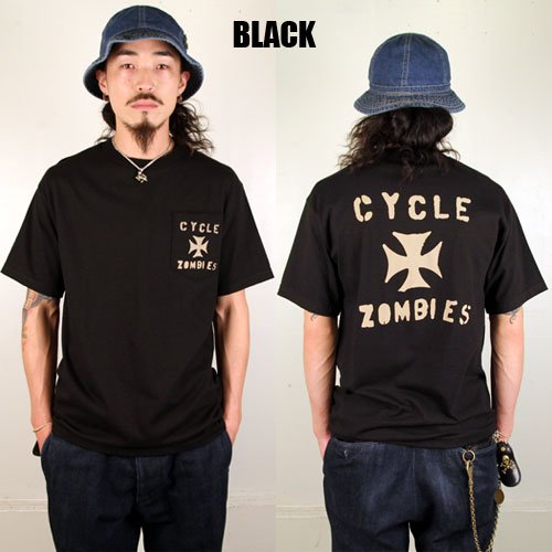 <img class='new_mark_img1' src='https://img.shop-pro.jp/img/new/icons46.gif' style='border:none;display:inline;margin:0px;padding:0px;width:auto;' />CYCLE ZOMBIES_[プリントTシャツ]IRON CROSS 2