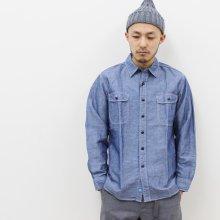KATO' BASIC コットンリネンシャンブレーシャツ(INDIGO)