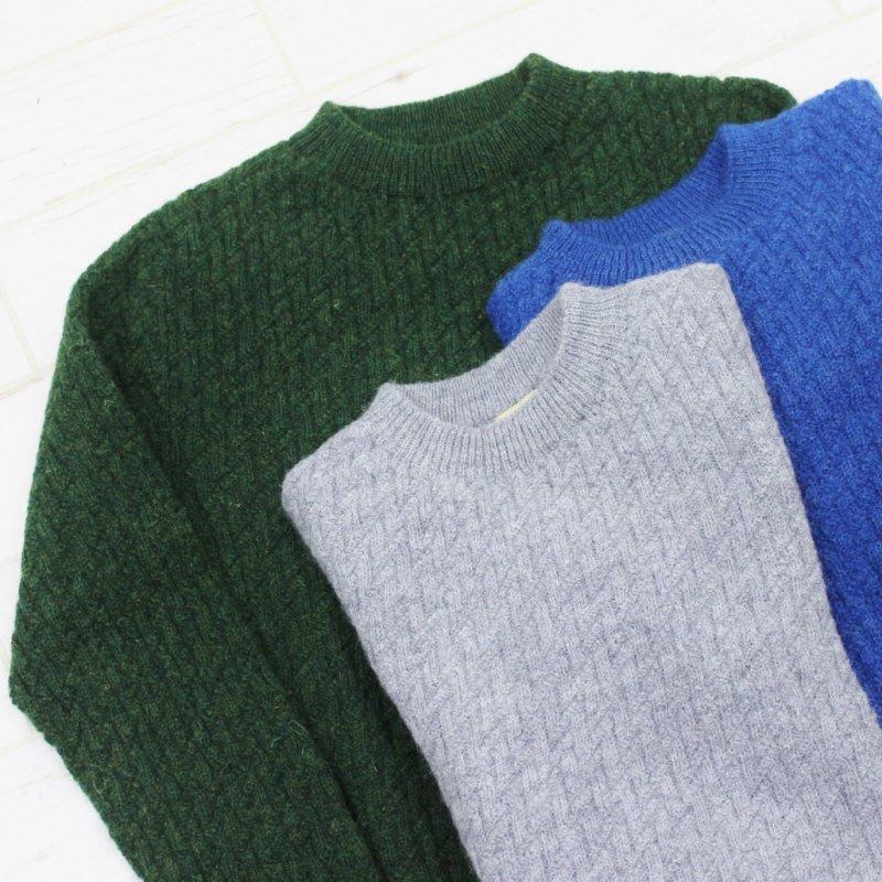 GLEN FYNE CREW NECK SWEATER(BLUE)