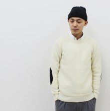 SOGLIA LANDNOAH Sweater(エルボーパッチ-WHITE)