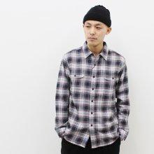 KATO' BASIC チェックワークシャツ(GRAY×RED)
