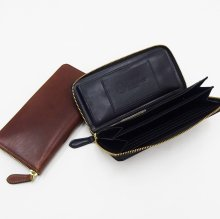 SLOW HERBIE round long wallet (BLACK/RED BROWN)