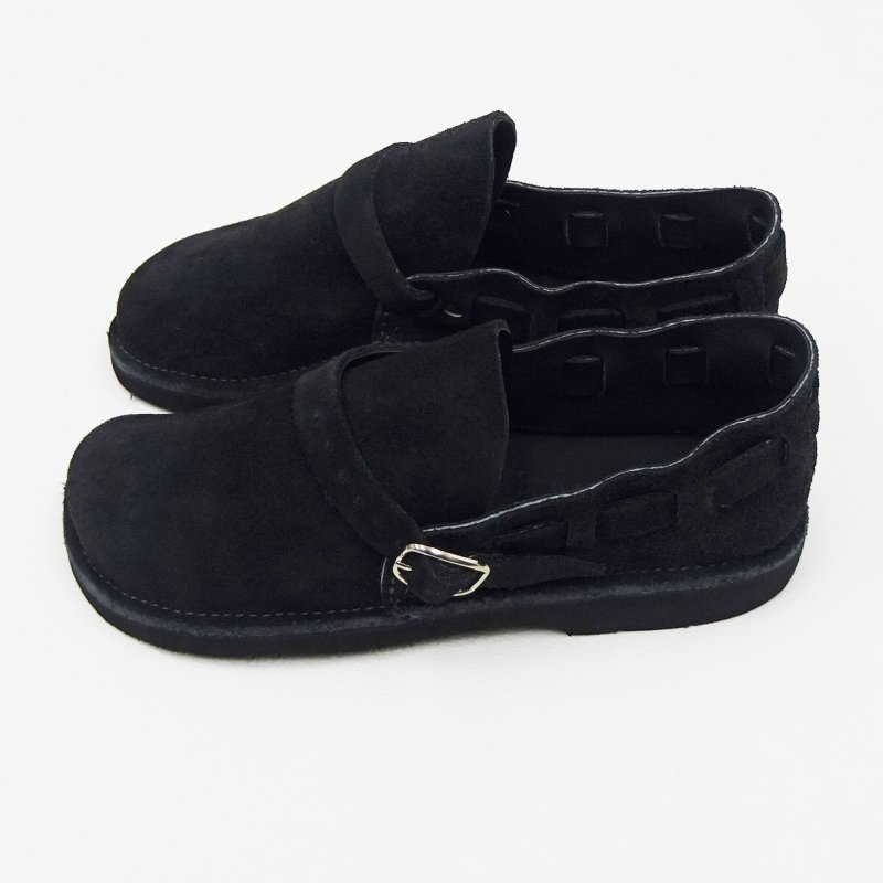 FERNAND LEATHER MIDDLE ENGLISH(BLACK-SUEDE)