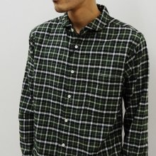 KATO' BASIC  ラウンドカラーシャツ(GREEN)