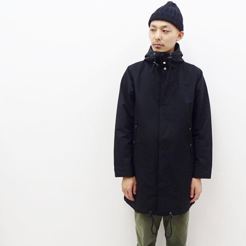 ARAN  HOOD COAT(BLACK)