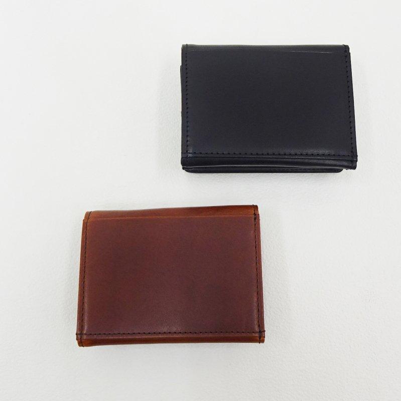 SLOW HERBIE hold mini wallet (BLACK/RED BROWN)