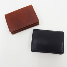 SLOW HERBIE hold mini wallet (BLACK/RED BROWN)