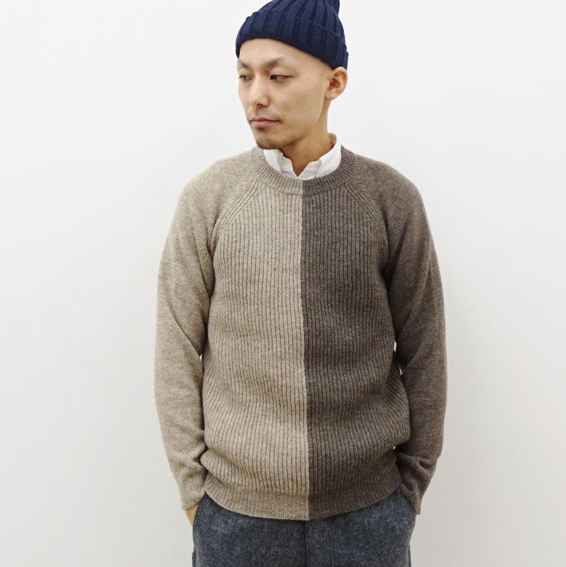 Soglia LERWICK Sweater 2TONE(BEIGE×BROWN)