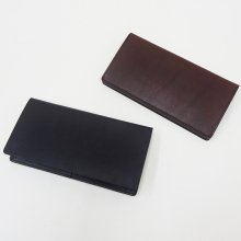 SLOW Double Oil Long Wallet (BLACK/CHOCO)