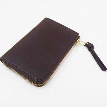 SLOW Double Oil L Zip Short Wallet (CHOCO)