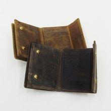 SLOW HERBIE hold mini wallet -KUZU- (BLACK/RED BROWN)