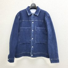 CURLY MAZARINE TRUCKER JACKET(WASH INDIGO)