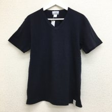 BETTER MID WEIGHT V NECK S/S T-SHIRT (NAVY)