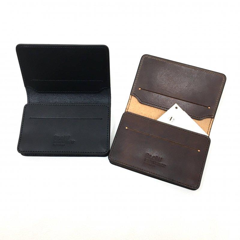 SLOW HERBIE CARD CASE (BLACK/RED BROWN)