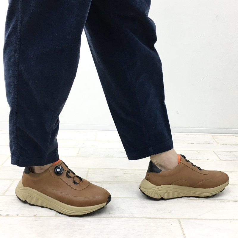PG THROUGH LEATHER SNEAKERS (BROWN)
