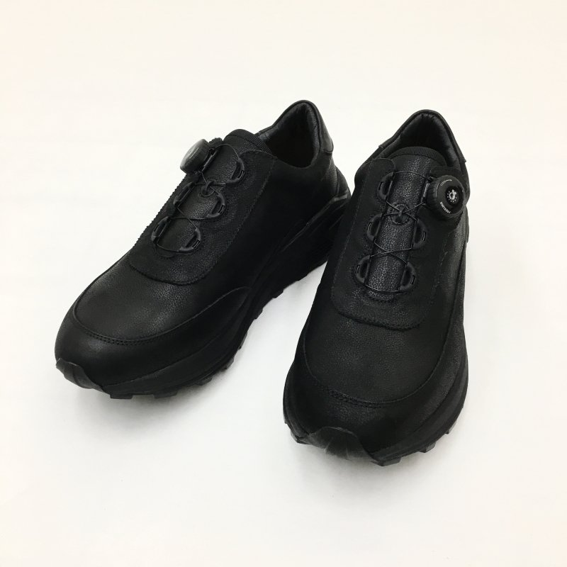 PG THROUGH LEATHER SNEAKERS (BLACK)