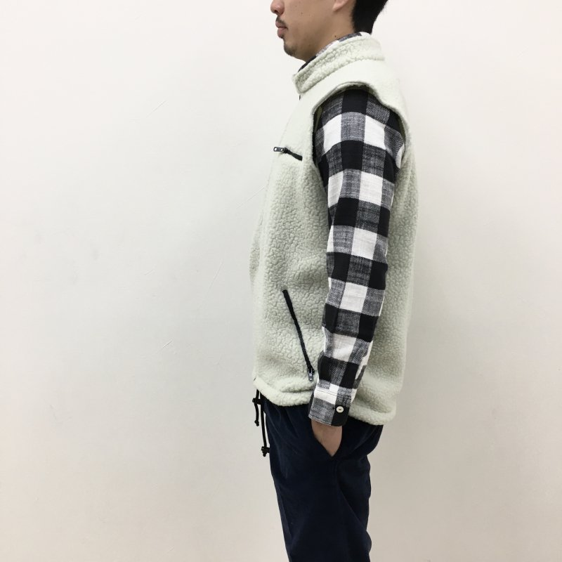 THOUSAND MILE MADE IN USA FLEECE VEST (PELICAN)【50%OFF】