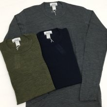 BETTER NZ MERINO WOOL T-SHIRT(OLIVE/NAVY/CHARCOAL)【40%OFF】