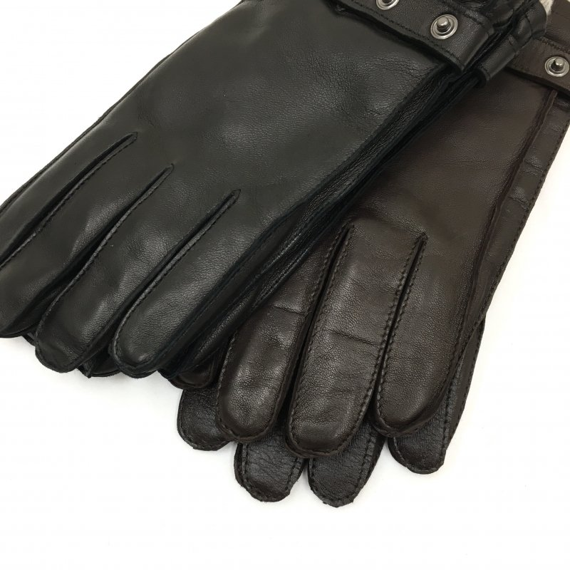 Gloves MADE IN ITALY LEATHER GLOVE (BROWN)