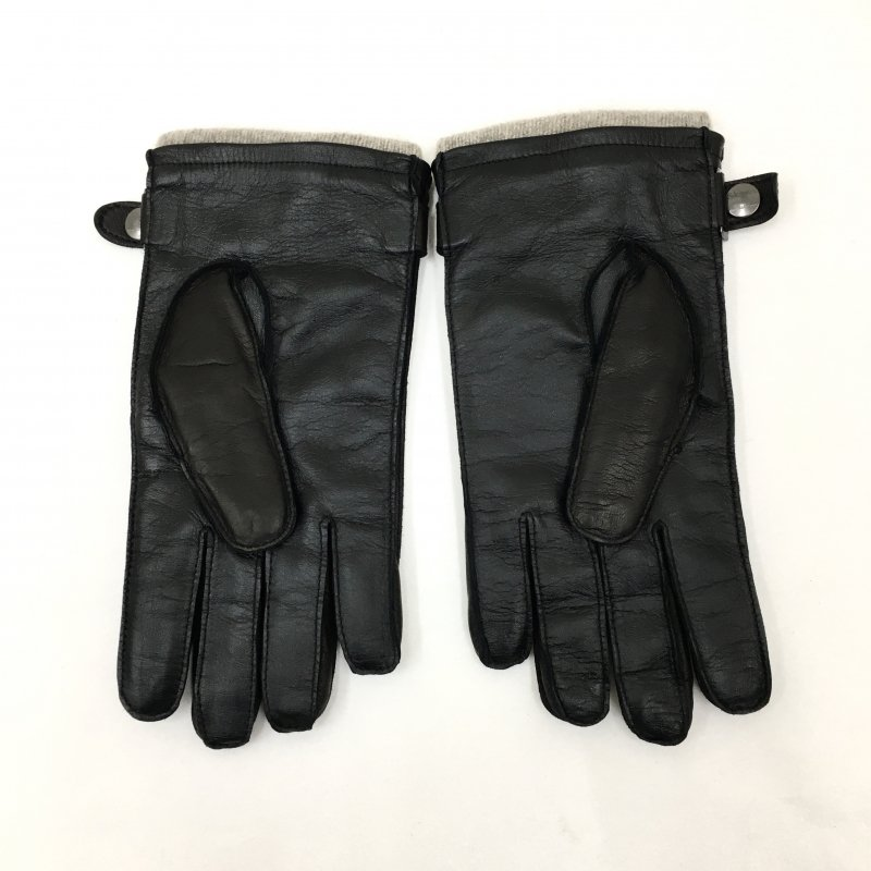 Gloves MADE IN ITALY LEATHER GLOVE (BLACK)