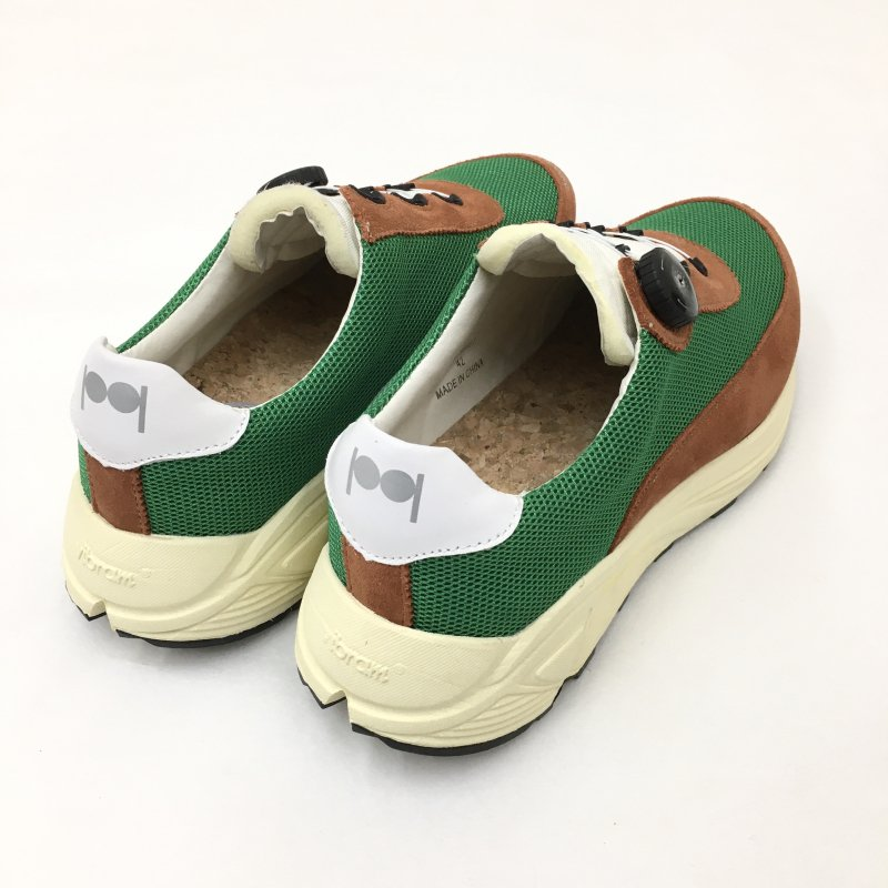 PG NEW DAWN NYLON MESH/SUEDE SNEAKERS (GREEN)