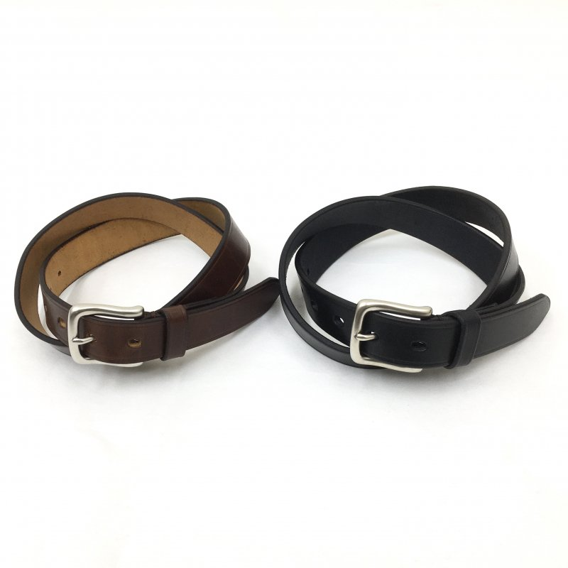 SLOW herbie - 27mm plain belt (BLACK/RED BROWN)