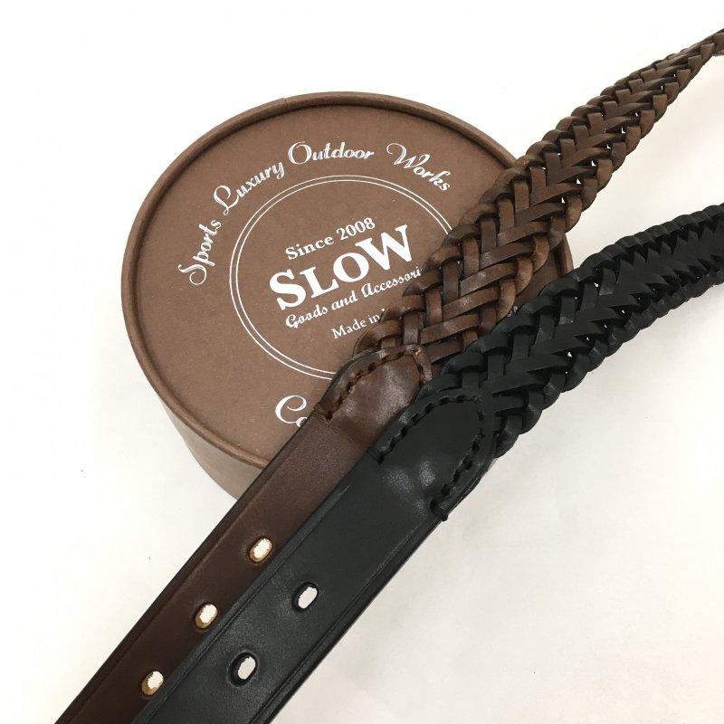 SLOW herbie - 30mm mesh belt (BLACK/RED BROWN)