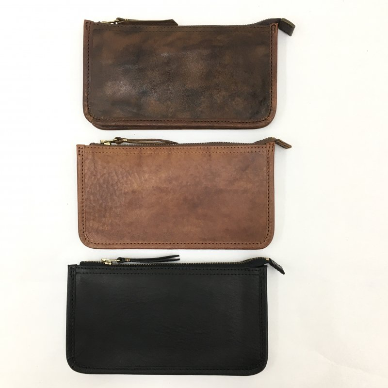 SLOW tochigi leather long wallet -belley- (BLACK/CHOCO/CAMEL)