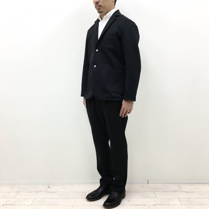 CURLY TRACK TROUSERS 2021S/S(BLACK)