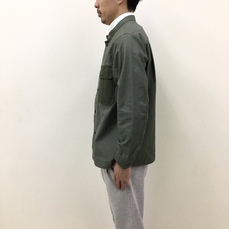 WILD THINGS BACK SATIN FIELD CPO SHIRT(OLIVE)