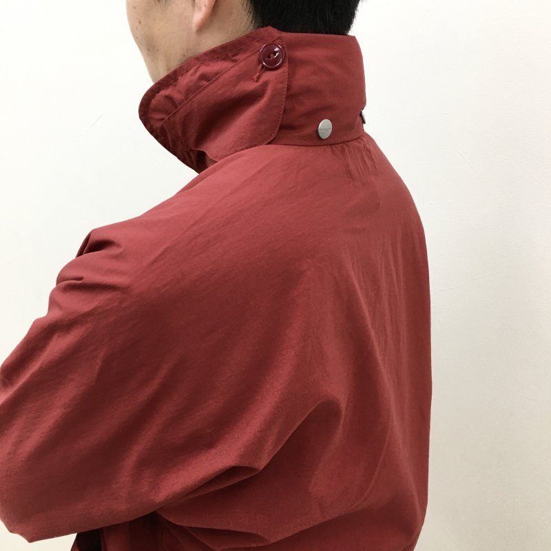 SASSAFRAS DIGS CREW JACKET-NYLON RIPSTOP-(RED)