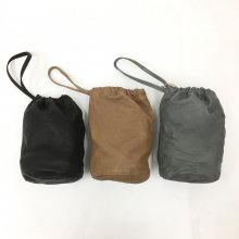 SLOW  draw string bag (GRAY/BLACK/CAMEL)