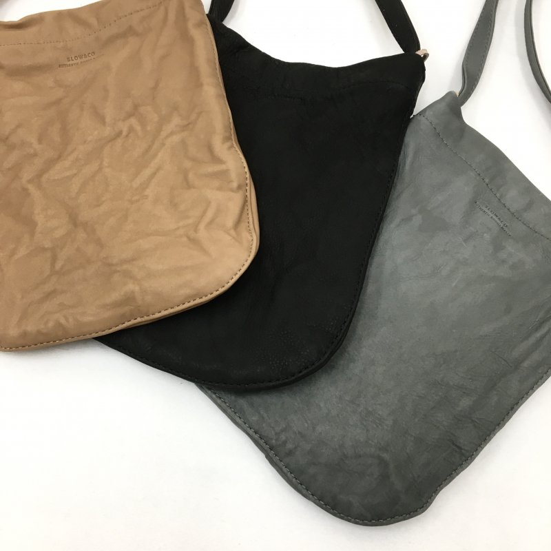 SLOW  mini one sholder bag (GRAY/BLACK/CAMEL)